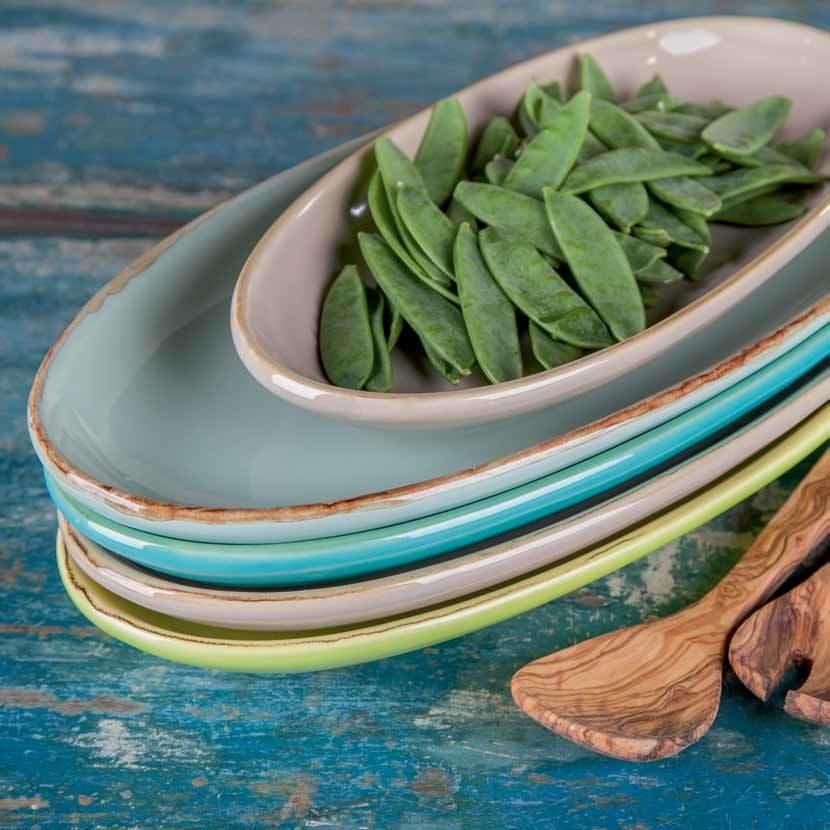 Bunte ital. Keramik Antipasti Schalen von Grün & Form