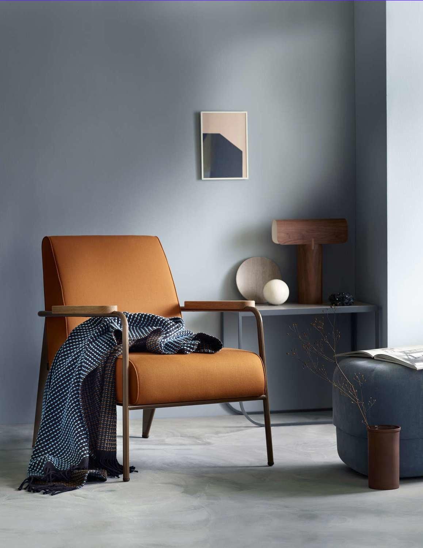 Norwegische Lammwoll Decke Røros Tweed Lofoten 150x210cm