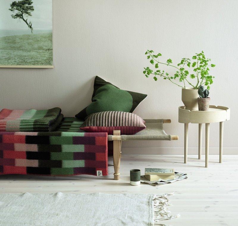 Norwegische Lammwoll Decke Røros Tweed Asmund Bold 135x200cm