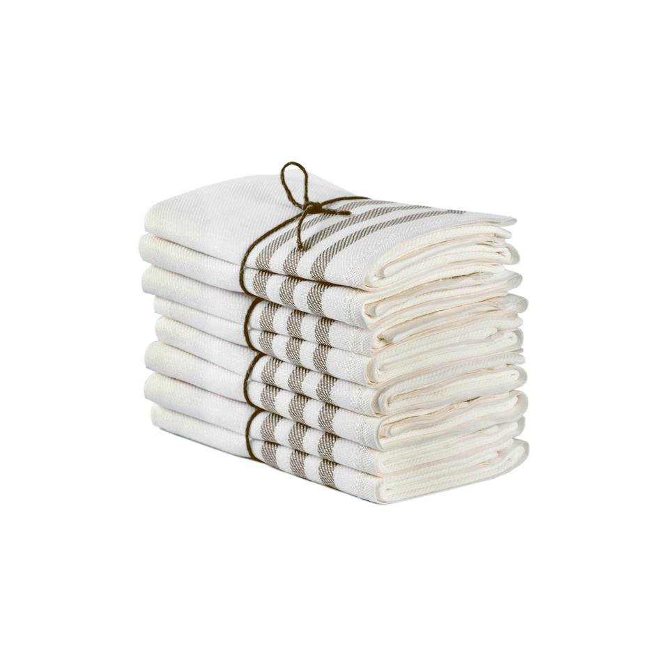 Handtuch DIAGONAL 2er Set 50x70 cm 100% Leinen  von Axlings