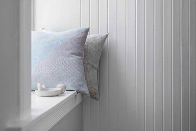Norwegische Lammwoll Kissen Røros Tweed Portor 50x50cm