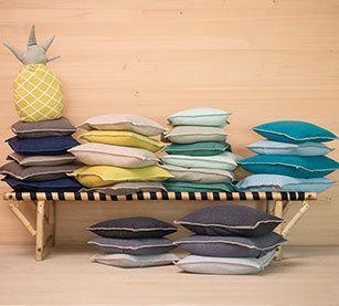 Kissen-Hüllen Baumwolle uni von David Fussenegger