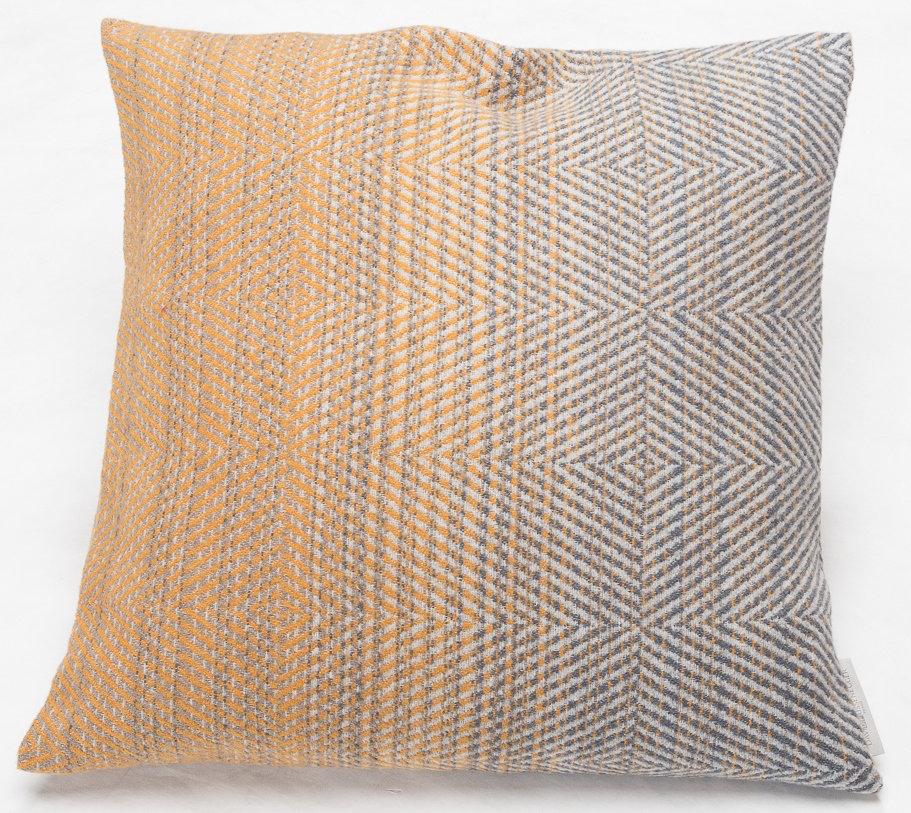 Baumwoll Kissenhülle Farbverlauf goldgelb 50 x 50cm