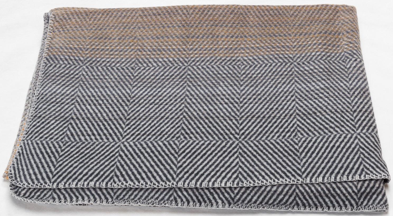 Baumwoll Decke Farbverlauf goldgelb 150 x 200cm