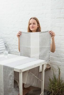 LIBECO Tischset 35x50cm in 100% Leinen mehrfarbig