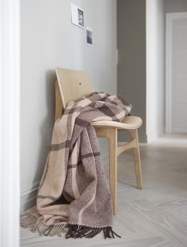 Norwegische Lammwoll Decke Røros Tweed Filos 145x220cm