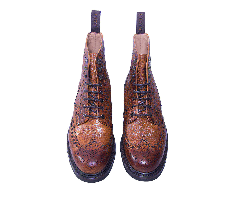 Joseph Cheaney Tweed C Brogue Leather