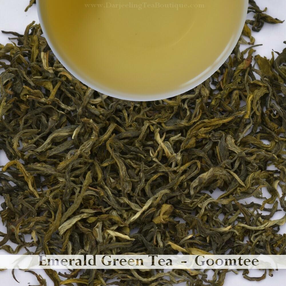 THE PLEASURABLE EMERALD GREEN TEA - Goomtee (100gm / 3.5oz)