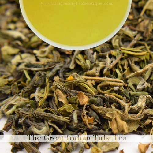 THE FLAVOURFUL AND HEALTHY Tulsi Green Tea (Holy Basil)   -  100gm (3.52oz)