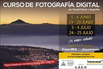 Cursos de fotografía digital durante la pandemia Covid19 (junio y julio)