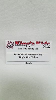 King's Kids Wallet Membership Cards (10 pack)