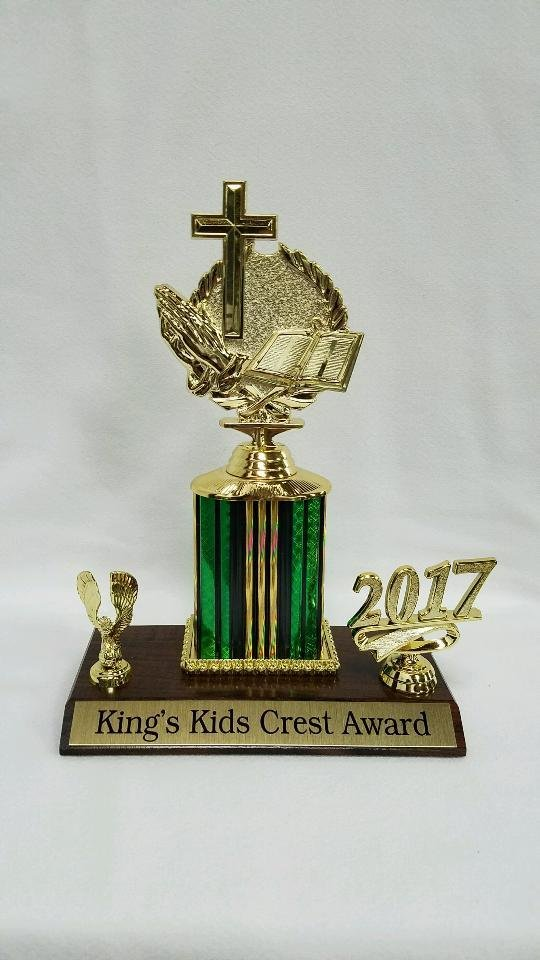 King's Kids Crest Award Trophy
