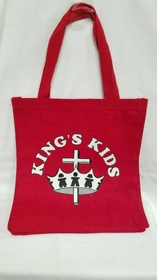King's Kids Imprinted Canvas Tote Bag