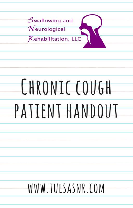 Chronic Cough Patient Handout with Cough Alternative Techniques (2 Pages)