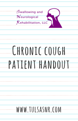 Chronic Cough Patient Handout with Cough Alternative Techniques (2 Pages)