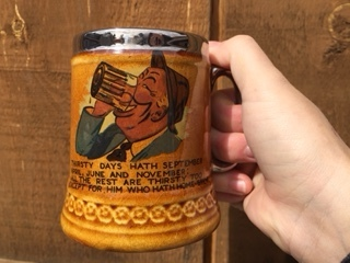 1950's Lord Nelson pottery in England Beer Mug #1