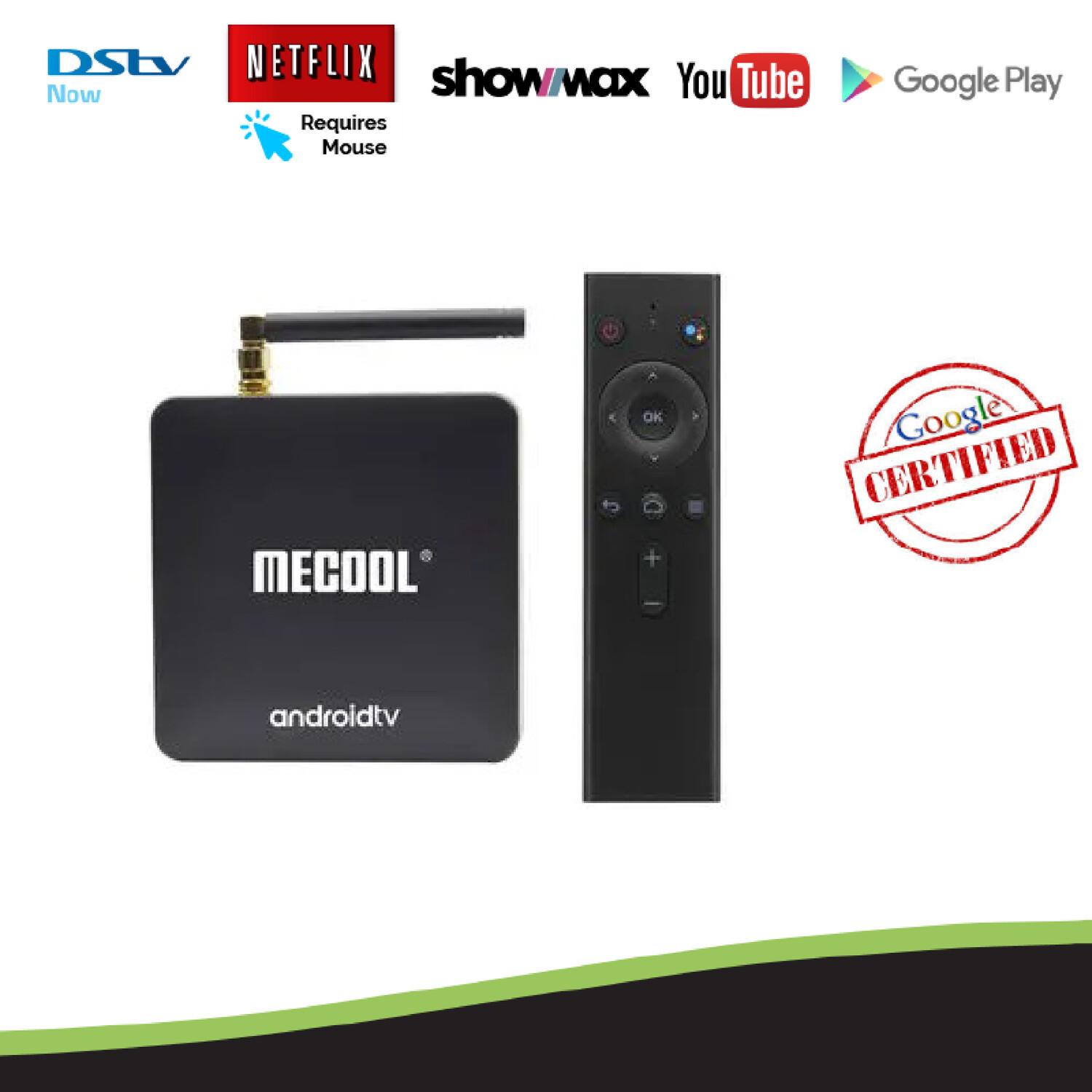 MECOOL KM8 2GB/16GB S905X Android TV OS Smart TV Box