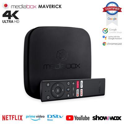 Mediabox Maverick Netflix & Google Certified 4K Android TV OS Media Streaming TV Box