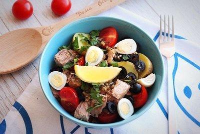 Летний салат с тунцом (холодное блюдо)