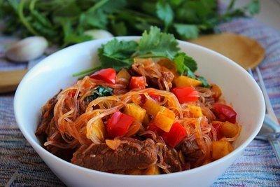 Теплый корейский салат