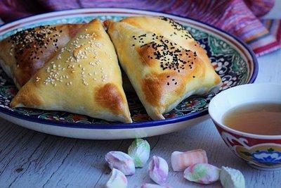 Узбекская самса с картофелем и тыквой