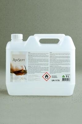 AbiSept 75% alk. čistilo z učinkom razkužila 5,0 L