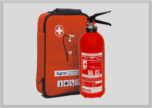 Erste-Hilfe-Set inkl. 2Liter (Light-Water) Feuerlöscher