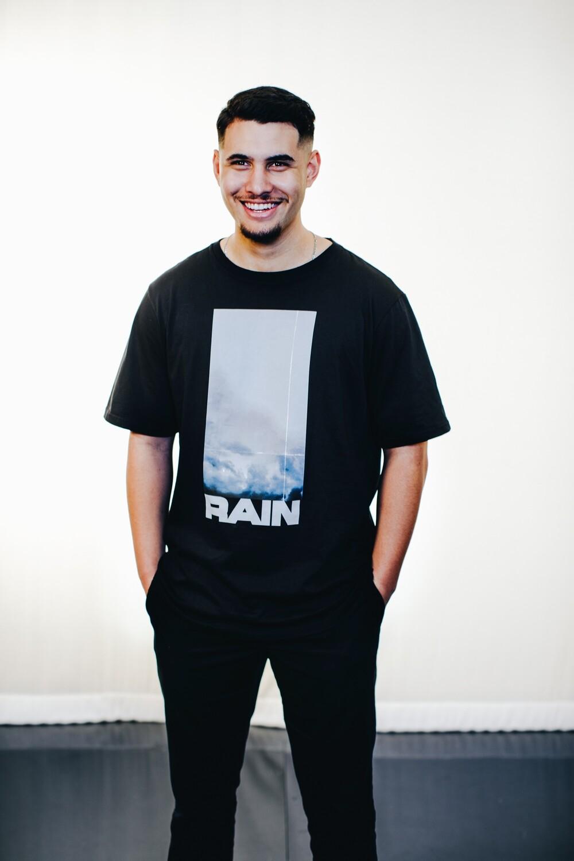 """""""RAIN"""" Black Tee"""