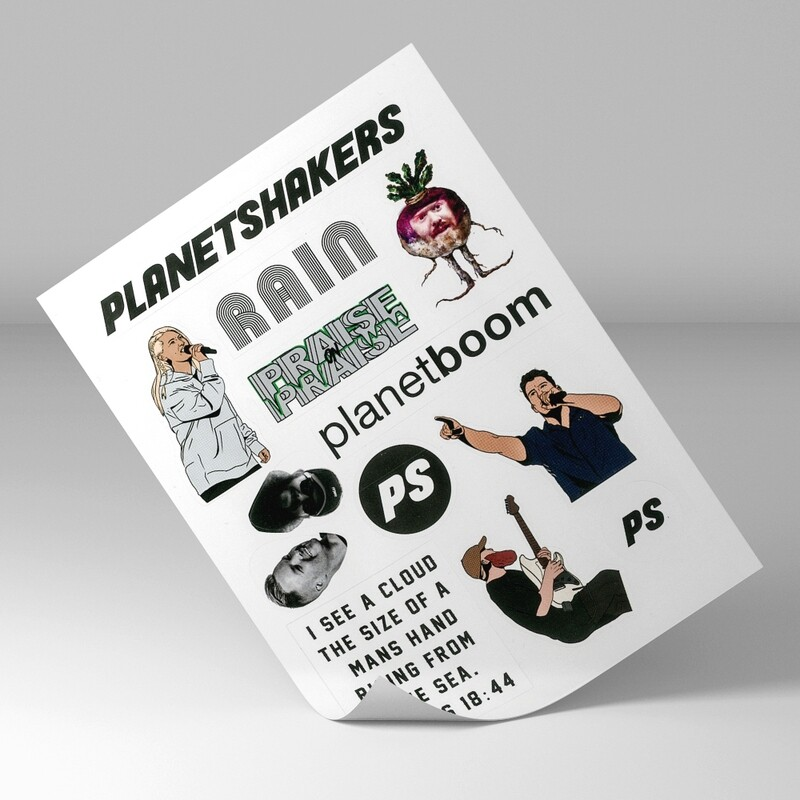 Planetshakers Sticker Page