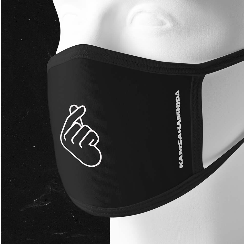 "planetboom ""Kamsahamnida"" Face Mask"