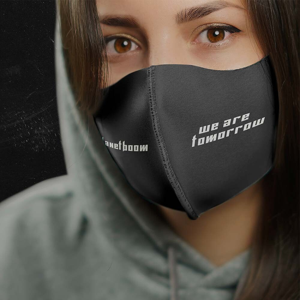 "planetboom ""We Are Tomorrow"" Face Mask"