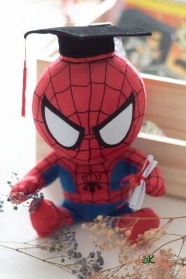 GRADUATION SPIDERMAN PLUSH TOY