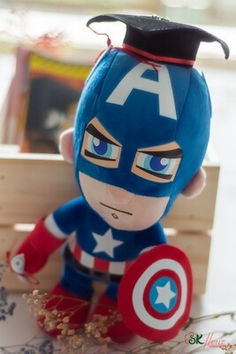 GRADUATION CAPTAIN AMERICA PLUSH TOY