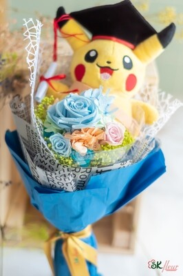 NEW JOURNEY - A GRADUATION POKEMON WITH A PRESERVED ROSE BOUQUET