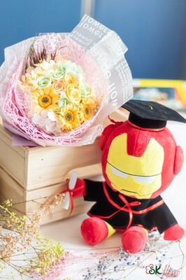 NEW JOURNEY - 1 GRADUATION MARVEL & 1 GERBERAS BOUQUET