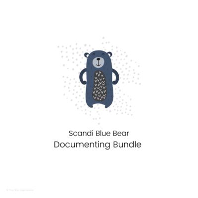DOCUMENTING - Documenting Template Bundle - Scandi Blue Bear