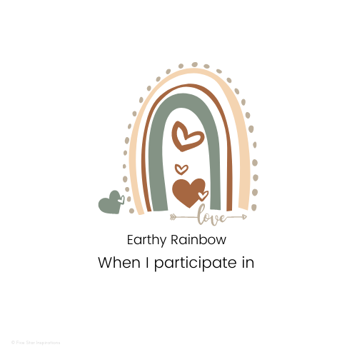 Documenting - Portfolios Made Easy - When I participate in - Earthy Rainbow