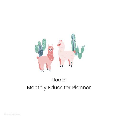 Early Childhood Education - Monthly Planner - Llama