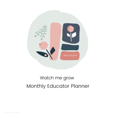 Early Childhood Education - Monthly Planner - Watch me grow