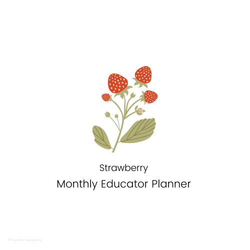 Early Childhood Education - Monthly Planner - Strawberry