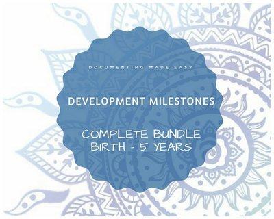 Documenting Made Easy - Developmental Milestones - Complete Bundle
