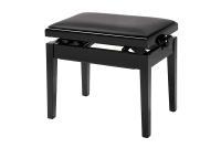 Klavierbank, Konzertmechanik, schwarz, Polster