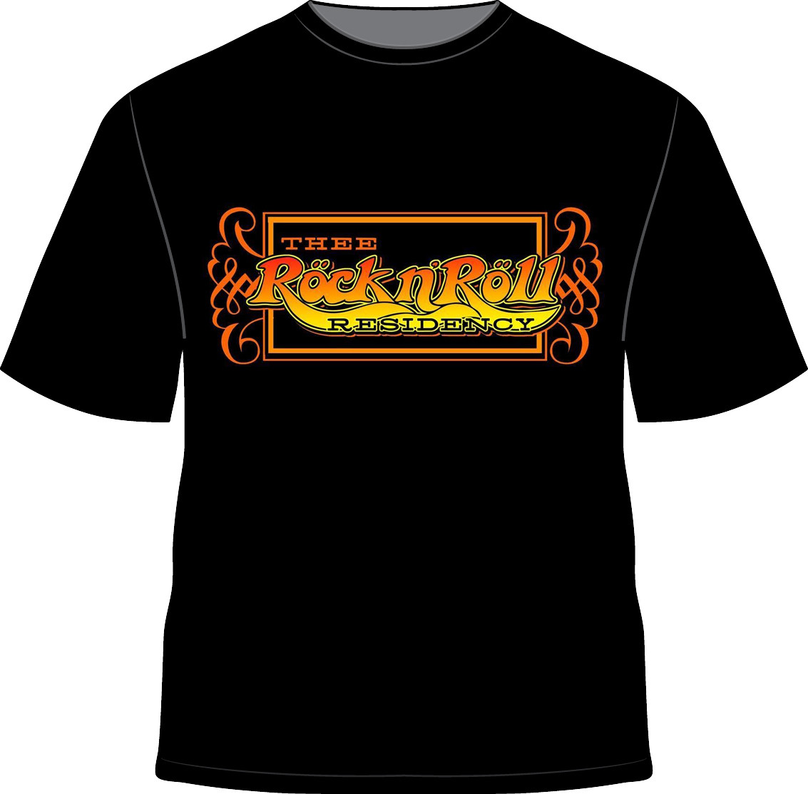 Thee Rock N' Roll Residency Official Logo T-Shirt