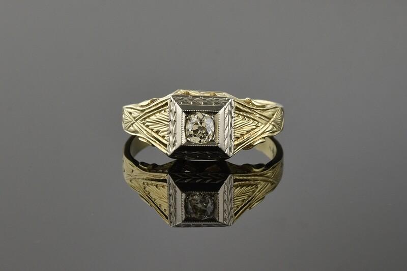 Gents Late Edwardian Diamond Ring