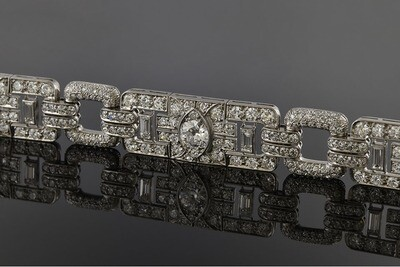 Square Link Diamond Bracelet