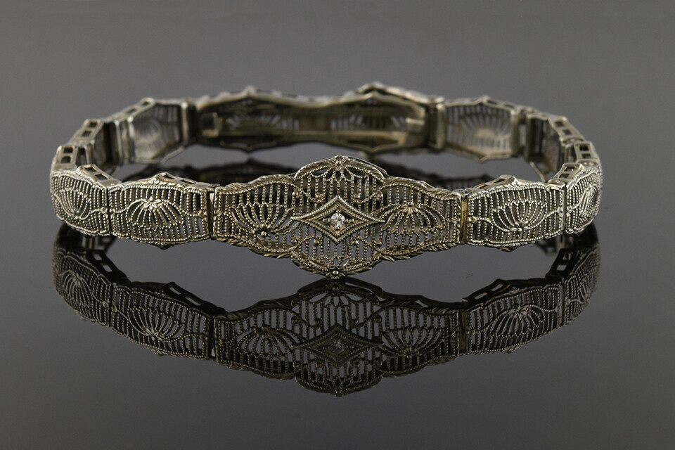 Art Deco Filigree Bracelet