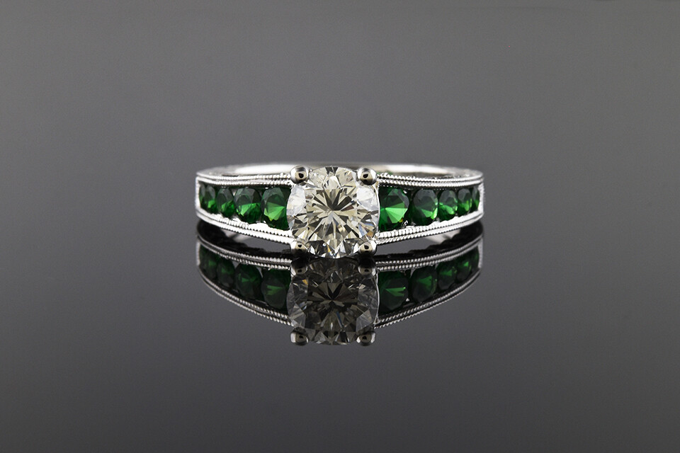Diamond & Tasvorite Ring