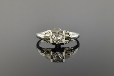 Dainty White Gold Diamond Ring