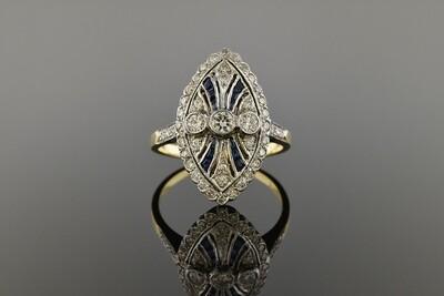 Late Edwardian Sapphire & Diamond Ring