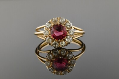 Victorian Red Spinel Ring